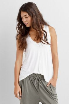 bf6fcaa29702 American Eagle Outfitters American Eagle Soft  amp  Sexy Racerback (Racer)  Tank