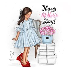 Happy Mothers Day Wishes, Happy Mother S Day, Cute Girl Drawing, Baby Drawing, Mother Daughter Art, Mother's Day Background, Love Silhouette, Love U Mom, Mother's Day Projects