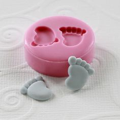 Baby Feet Flexible Mini Mold/Mould 12mm for Crafts by MoldMuse, $4.85