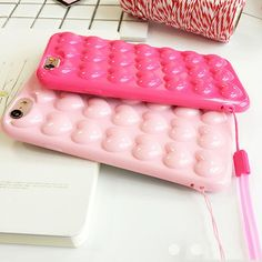 Love Heart Soft Silicon iPhone Case, Mobile Phone Case, Quirky Hippo #hearts #candycolors