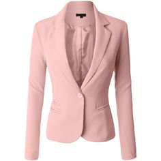 LE3NO Womens Classic Fitted Boyfriend Blazer Jacket (€28) ❤ liked on Polyvore featuring outerwear, jackets, blazers, pink blazer, fitted blazer, boyfriend blazers, fitted boyfriend blazer and fitted blazer jacket