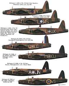 Vickers 'Wellington' (UK) by x-ray delta one Ww2 Aircraft, Military Aircraft, Wellington Bomber, Lancaster Bomber, Aircraft Painting, Military Pictures, Ww2 Planes, Royal Air Force, Aviation Art