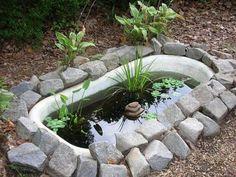 Fürdőkád felhasználása a kertben