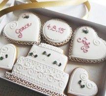 Personalised Wedding / Engagement Cookie Gift Box by Cookie-Art London on Gourmly Send Cookies, Heart Cookies, Cookie Gift Baskets, Cookie Gifts, Food Gifts, Personalised Box, Personalized Wedding, Engagement Cookies, Crack Crackers