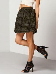 Ruffle Mini Skirt @ INR-2299/- #sesamestylestudio
