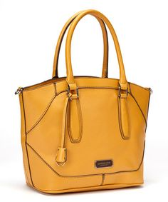Look what I found on #zulily! Mustard Convertible Avery Tote by London Fog #zulilyfinds