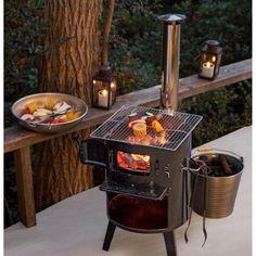 薪ストーブ・焚き火・バーベキュー・ダッチオーブン・かまどなど、5つの用途に使える、とっても便利な1台。アウトドアでの煮炊きや焼き物など、幅広く対応するマルチな煙突ストーブです。