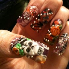 Halloween Nails by Sky....