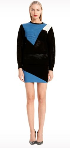 Jessie - A Fashion Boutique - Torn - Mali Colorblock Skirt - Blue / Black, $194.00 (http://www.jessieboutique.com/products/torn-mali-colorblock-skirt-blue-black.html)