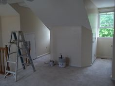 This is the application phase in-progress of the loft within the master bedroom. Job Pictures, Townhouse Interior, Interior Painting, Master Bedroom, Loft, Master Suite, Lofts, Master Bedrooms, Bedroom