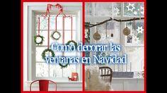 Como decorar las ventanas en Navidad
