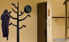 Vinilo decorativo Árbol Percha