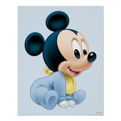 Baby Mickey Mouse Poster