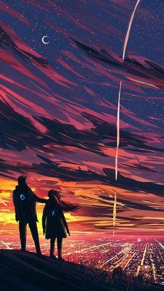 Cute Galaxy Wallpaper, Sunset Wallpaper, Anime Scenery Wallpaper, Dark Wallpaper, Wallpaper Backgrounds, Wallpaper Animes, Animes Wallpapers, Witcher Wallpaper, Wallpaper Display