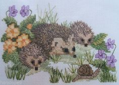 Cross-Stitch-Kits-ANIMALS-LION-CHEETAH-HEDGEHOG-BEAR-WOLF-BADGER