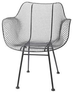 Wire Chair - modern - Outdoor Chairs - Rejuvenation $299 on Houzz