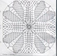 Meu Paraiso: Squares Crochet Motifs, Crochet Squares, Crochet Stitches, Crochet Patterns, Crocheting, Tutorials, Crochet Doilies, Crochet Motif, Crocheting Patterns
