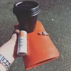 """""""Just the essentials for this sunny Monday morning. Coffee  Everything Balm  Wallet ."""" Love this @cleanseskincare!"""