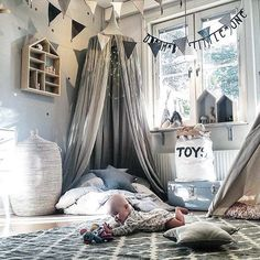 Kid Baby Bed Canopy Bedcover Mosquito Net Curtain Bedding Round Dome Tent Cotton | eBay