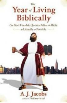"""The Year of Living Biblically"" by Al Jacobs."