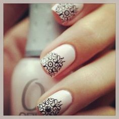 I love the idea of taping of sections of nails an then stamping over it!