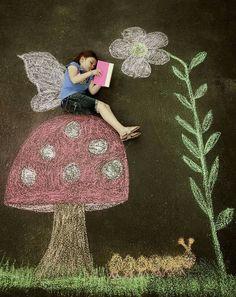 24 creative sidewalk chalk photo ideas - Chalk Art İdeas in 2019 Chalk Photography, Children Photography, Female Photography, Fantasy Photography, London Photography, Photography Magazine, Product Photography, Chalk Photos, Art For Kids