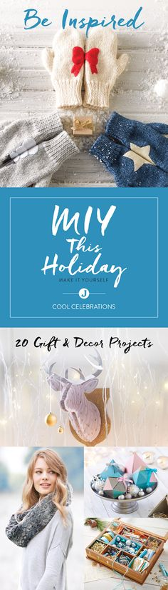 Want to make something cool for your family and friends this holiday season? Give them a one-of-a-kind gift by making them something to wear, hang or hold this year. Inspiration meets creativity in this Cool Celebrations Maker's Guide by Jo-Ann.