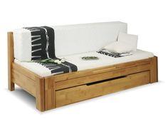 Dřevěná rozkládací postel s úložným prostorem DUO VERONA