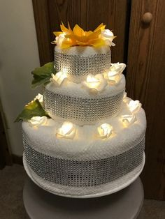 Your place to buy and sell all things handmade – Best Towel Models and Patterns 2020 Teen Gift Baskets, Wedding Gift Baskets, Wedding Towel Cakes, Wedding Cakes, Spa Cake, Cakes Plus, How To Fold Towels, Nappy Cakes, Towel Crafts