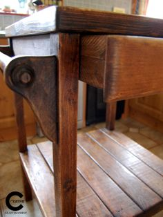 Rustic Kitchen Island, Kitchen Sale, Home Reno, Reno Ideas, Handmade Wooden, Entryway Tables, House Ideas, New Homes, Creative