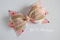 Burlap hair bow pink and gold hair bow Hair Bows for Girls Little Girl Bows lace hair bow Toddler hair clips Medium hair bow Burlap Hair Bows, Diy Hair Bows, Making Hair Bows, Ribbon Hair Bows, Diy Bow, Bow Hair Clips, Gold Hair Bow, Lace Hair, Diy Hair Accessories Ribbon