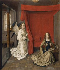 """Dieric Bouts' """"The Annunciation,"""" from about 1450-55, The Getty"""