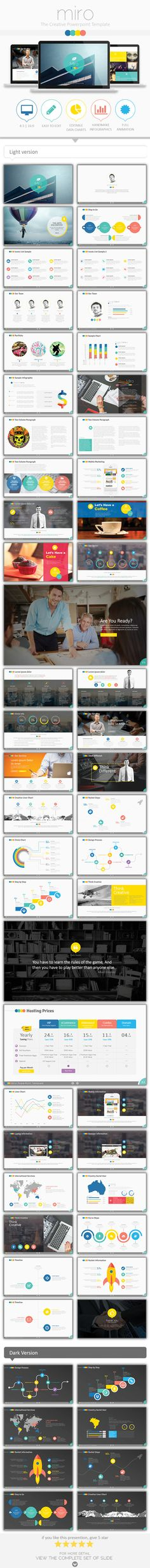 Miro - Creative and Ultimate PowerPoint Template #presentation #design Download: http://graphicriver.net/item/miro-creative-and-ultimate-powerpoint-template/10816220?ref=ksioks