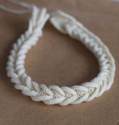 KNITTILAND: Collana Facilissima  Cable Braided Necklace