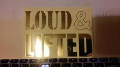 chrome decal for loud and lifted trucks ford by HippieChicsMakings