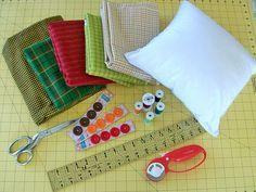 You Can Do It! S4H EZ-2-Do Rag Edge Pillows | Sew4Home