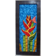 Cuadros En Patchwork Sin Agujas Heliconia $ 190000.0 Van Gogh, Projects To Try, Diy Crafts, Quilts, Painting, Stained Glass, Education, Patterns, Google