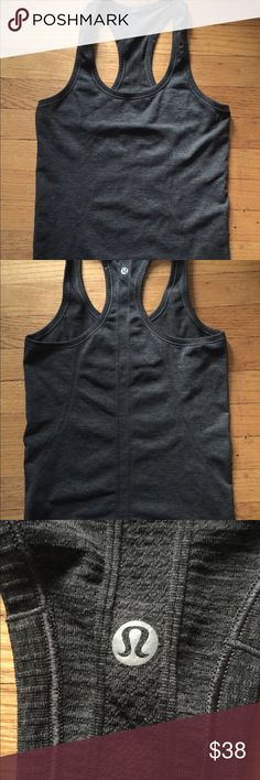 Lululemon Swiftly Tank 6 EUC Deep Coal Grey Color.  Size 6.  No flaws, piling, stains or tears.   Great condition.  No trades. lululemon athletica Tops Tank Tops