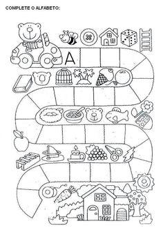 Atividades Para Educação Infantil Com Alfabeto Para Imprimir | Mensagens e Atividades