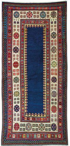 Antique talish rug, Caucasus, 1850 jellegzetes üres tükör