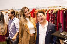 O CEO Fábio Hong e a modelo Virgínia