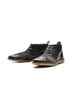 JACK & JONES FOOTWEAR - Desert-Boots von FOOTWEAR - Obermaterial in Leder und Wildleder - Dünne, runde Schnürsenkel - Blind-Ösen - Geprägtes Markenlogo-Detail an der Ferse Obermaterial: 100% Rindleder, Sohle: 100% Gummi...