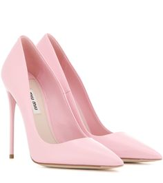 MIU MIU Patent leather pumps... Not a fan of pink, but I love the shape and style of these pumps!!