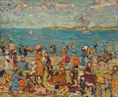 """Art product background information Take the elegance of the visual arts into your home. """"Beach Scene"""" was selected for our art gallery by the team. It was first made by Maurice Brazil Prendergast.   About this item          Product classification: fine art print   Reproduction: digital reproduction   Production method: UV print / digital printing   Origin of the product: German production   Stock type: production on demand   Product usage: wall decoration, wall art   Artwork alignment: landscap Canvas Paper, Oil On Canvas, Canvas Prints, Barnes Foundation, Impressionist Artists, Beach Scenes, Art Background, Art Reproductions, Original Artwork"""