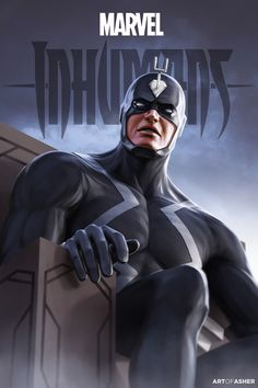 "HeroChan — Black Bolt ""King"" Created by Asher Ben ||..."