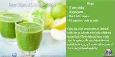Pear Cilantro Detox Smoothie! Simple Green Smoothies for clear skin, weight loss and inflammation :)