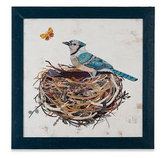 Blue Jay by Dolan Geiman: Mixed-Media Wall Art available at www.artfulhome.com