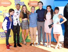 The cast of Bella And The Bulldogs at the 2015 Kids Choice Awards