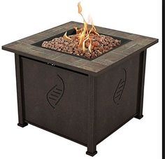 Best Top Selling Propane Gas Fire Pit Table With Cover Lid Patio Deck Porch Pool Outdoor Heater- Beautiful UV Resistant Finish- Powerful Heating BTU Contemporary Lovely Beautiful Outdoor Fire Pit Table, Gas Fire Pit Table, Outdoor Living, Outdoor Heaters, Patio Heater, Copper Fire Pit, Wrought Iron Chairs, Fire Pots, Fire Pit Furniture