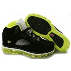 Women Air Max Jordan 5 shoes on sale Black Yellow